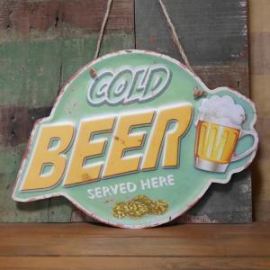 BEER ブリキ看板 インテリア ダイカット レトロデイズプレート ビール看板 goodsfarm