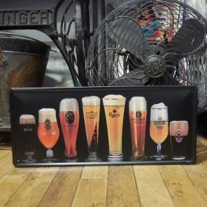 ビール ブリキ看板 BEER インテリア メタルサインプレート goodsfarm
