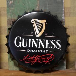 ギネス ボトルキャップサイン GUINNESS インテリア 王冠型 ブリキ看板 goodsfarm