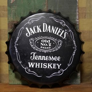 ジャックダニエル ボトルキャップサイン JACK DANIEL'S インテリア 王冠型 ブリキ看板|goodsfarm