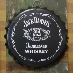 ジャックダニエル エンボス ボトルキャップサイン JACK DANIEL'S インテリア 王冠型 ブリキ看板|goodsfarm