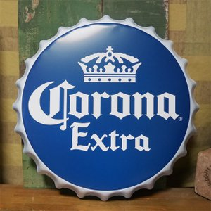 コロナビール 王冠型 ブリキ看板 インテリア ボトルキャップサイン Corona Extra アメリカン雑貨 goodsfarm