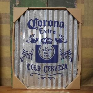 コロナビール コルゲート ティンサイン ブリキ看板 インテリア CORONA EXTRA goodsfarm