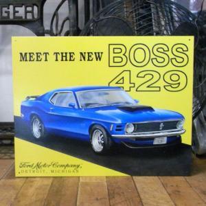 ブリキ看板 マスタング BOSS429 アメ車 インテリア Mustang|goodsfarm