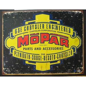 ブリキ看板 アメ車 MOPAR インテリア メタルサインプレート アメリカン雑貨|goodsfarm