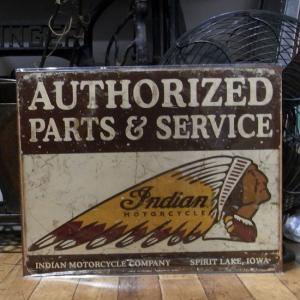 ブリキ看板 インディアン モーターサイクル インテリア|goodsfarm