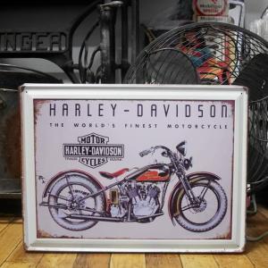 ブリキ看板 ハーレーダビッドソン HARLEY-DAVIDOSON アメリカン雑貨|goodsfarm
