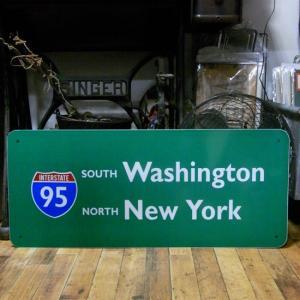 ニューヨーク ワシントン トラフィックサインボード インテリア ブリキ看板|goodsfarm