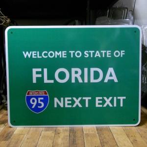 フロリダ トラフィックサインボード インテリア ブリキ看板|goodsfarm