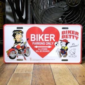 ベティブープ BIKER コマーシャルプレート Betty Boop ブリキ看板 CMプレート アメリカン雑貨|goodsfarm