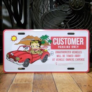 ベティブープ CUSTOMER コマーシャルプレート Betty Boop ブリキ看板 CMプレート|goodsfarm