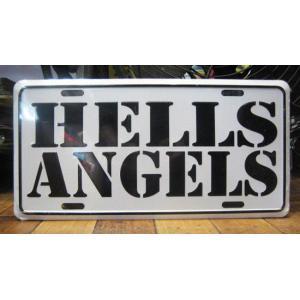 ブリキ看板 CMプレート HELLS ANGELS インテリア メタルサインプレート アメリカン雑貨|goodsfarm
