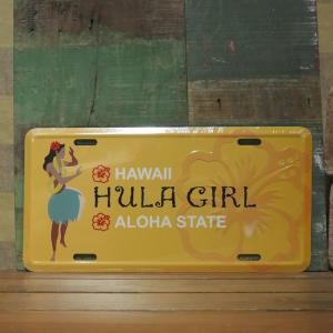 コマーシャルプレート HULA GIRL インテリア ブリキ看板 アメリカン雑貨|goodsfarm