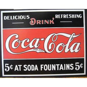 ブリキ看板 コカコーラ インテリア メタルサインプレート アメリカン雑貨|goodsfarm