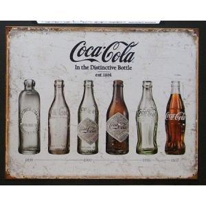 ブリキ看板 コカコーラ アンティークボトル インテリア アメリカン雑貨|goodsfarm