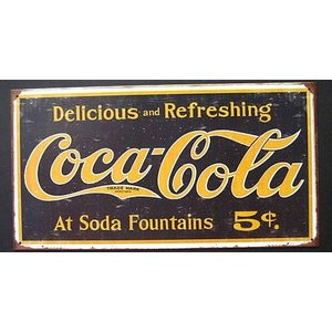 ブリキ看板 コカコーラ アメリカン雑貨|goodsfarm