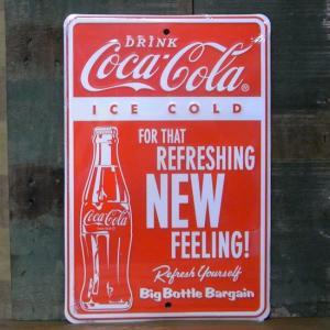 コカコーラ メタルサインプレート Coca-Cola インテリア アメリカン雑貨|goodsfarm