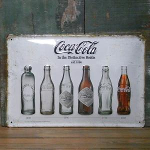 エンボス ブリキ看板 コカコーラ インテリア メタルサインプレート ビンテージボトル|goodsfarm