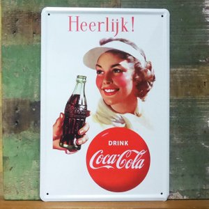 コカコーラ ブリキ看板 アメリカン雑貨 インテリア Coca-Cola メタルサインプレート|goodsfarm
