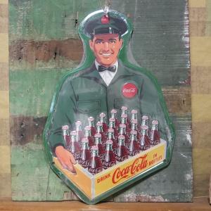 コカコーラ ティンサイン デリバリーマン ブリキ看板 Coca-Cola アメリカン雑貨|goodsfarm