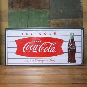 コカコーラ ティンサイン フィッシュテールサイン ブリキ看板 Coca-Cola アメリカン雑貨|goodsfarm
