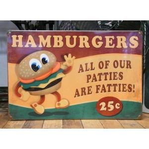 ブリキ看板 ハンバーガー インテリア メタルサインプレート アメリカン雑貨 goodsfarm