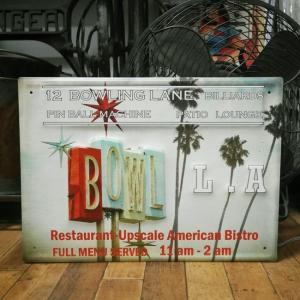 カリフォルニア サインボード BOWL ブリキ看板 CALIFORNIA インテリア goodsfarm