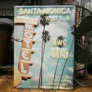 カリフォルニア サインボード MOTEL ブリキ看板 CALIFORNIA インテリア|goodsfarm