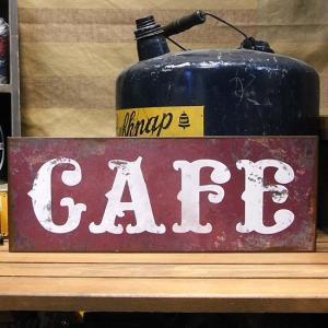 レトロ アイアン サインプレート CAFE ブリキ看板|goodsfarm