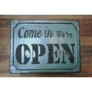 ブリキ看板 オープン クローズ|goodsfarm|02