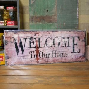 WELCOME ウェルカム ボード ブリキ看板|goodsfarm