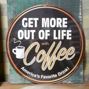 ダイカットスティールサイン看板 COFFEE インテリア カフェ ブリキ看板|goodsfarm