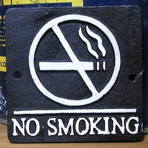 禁煙プレート NO SMOKING ブラック ダルトン|goodsfarm