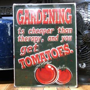 エンボス メタルサイン TOMATOES トマト ブリキ看板 goodsfarm