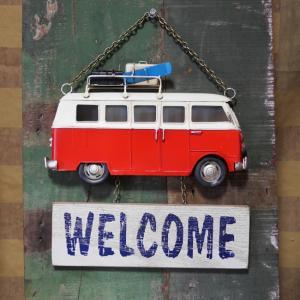 ワーゲンバス ウェルカムプレート ノスタルジックデコ サイン看板|goodsfarm