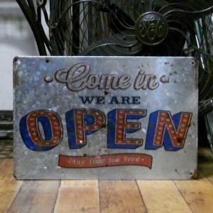 ブリキ看板 Open インテリア サインプレート|goodsfarm