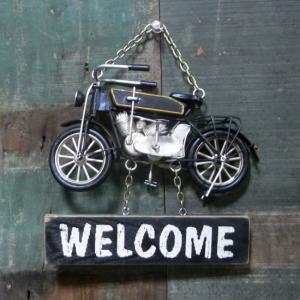 モペット バイク ウェルカムプレート ノスタルジックデコ サイン看板|goodsfarm