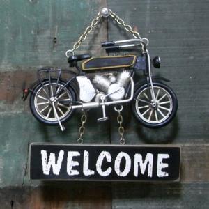 モペット バイク ウェルカムプレート ノスタルジックデコ サイン看板|goodsfarm|02