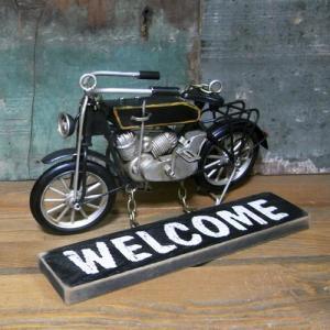 モペット バイク ウェルカムプレート ノスタルジックデコ サイン看板|goodsfarm|03