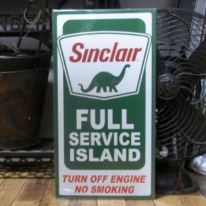 シンクレア オイル ブリキ看板 SINCLAIR SERVICE ISLAND インテリア|goodsfarm