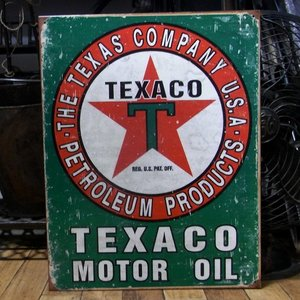 TEXACO ブリキ看板 テキサコオイル アメリカン雑貨 インテリア|goodsfarm