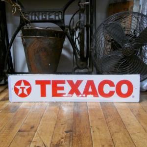 TEXACO ブリキ看板 テキサコオイル ティンサイン インテリア|goodsfarm