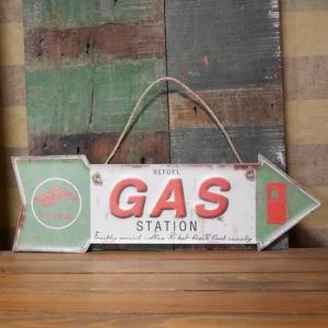 GAS ブリキ看板 インテリア ダイカット レトロデイズプレート ガスステーション|goodsfarm