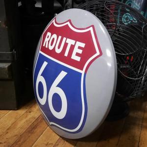 ROUTE66 メタルドームサイン ブリキ看板 ルート66 インテリア|goodsfarm|02