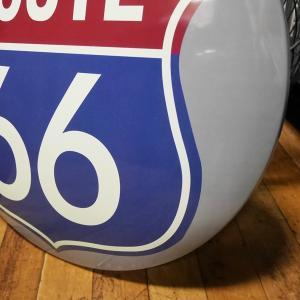 ROUTE66 メタルドームサイン ブリキ看板 ルート66 インテリア|goodsfarm|03