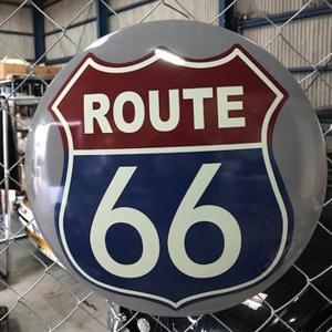 ROUTE66 メタルドームサイン ブリキ看板 ルート66 インテリア|goodsfarm|05