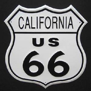 ブリキ看板 ルート66 カリフォルニア インテリア メタルサインプレート アメリカン雑貨|goodsfarm