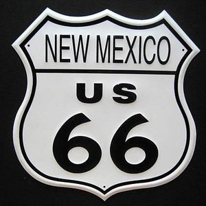 ブリキ看板 ルート66 ニューメキシコ インテリア メタルサインプレート アメリカン雑貨|goodsfarm
