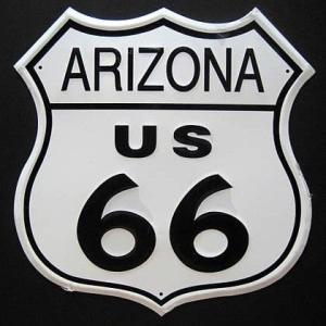 ブリキ看板 ルート66 アリゾナ インテリア アメリカン雑貨|goodsfarm