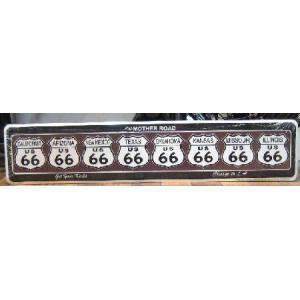 ブリキ看板 ルート66 マザーロード インテリア メタルサインプレート アメリカン雑貨|goodsfarm